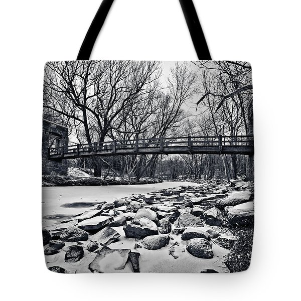 Pillars On The Shore Tote Bag by CJ Schmit