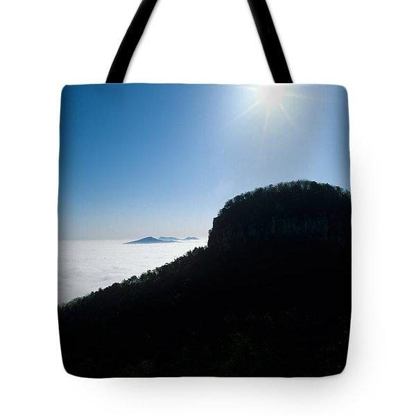Pilot Mountain Tote Bag by John Harmon