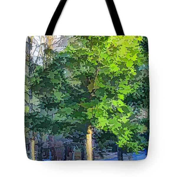 Pine Tree Forest Tote Bag by Lanjee Chee