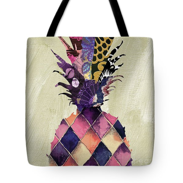 Pineapple Brocade II Tote Bag by Mindy Sommers