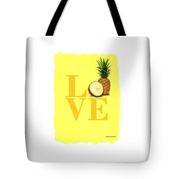 Pineapple Tote Bag by Mark Rogan