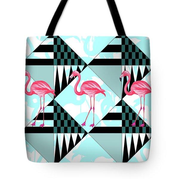 Ping Flamingo Tote Bag by Mark Ashkenazi