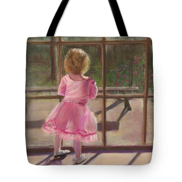 Pink Ballerina Tote Bag by Kathy Wood