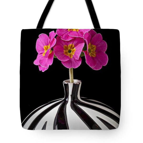 Pink English Primrose Tote Bag by Garry Gay