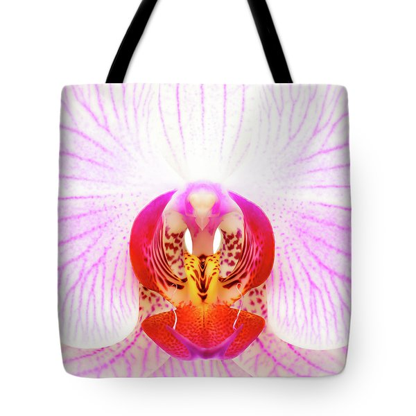 Pink Orchid Tote Bag by Dave Bowman