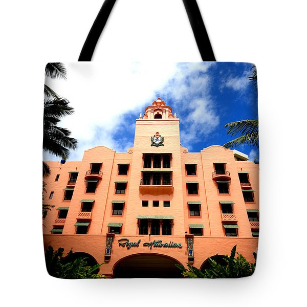 Pink Palace Of The Pacific Tote Bag by Cheryl Young