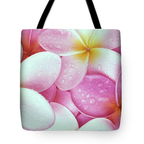 Pink Plumeria Tote Bag by Carl Shaneff - Printscapes