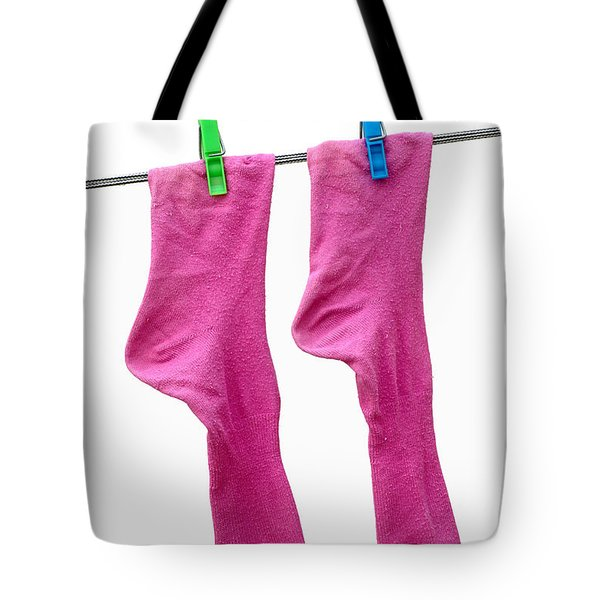 Pink Socks Tote Bag by Frank Tschakert