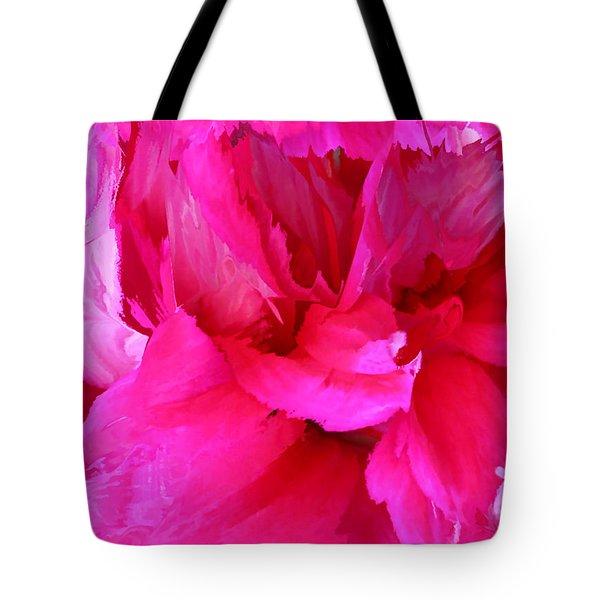 Pink Splash Tote Bag by Kristin Elmquist