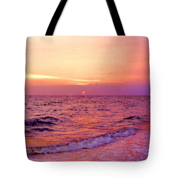 Pink Sunrise Tote Bag by Kristin Elmquist