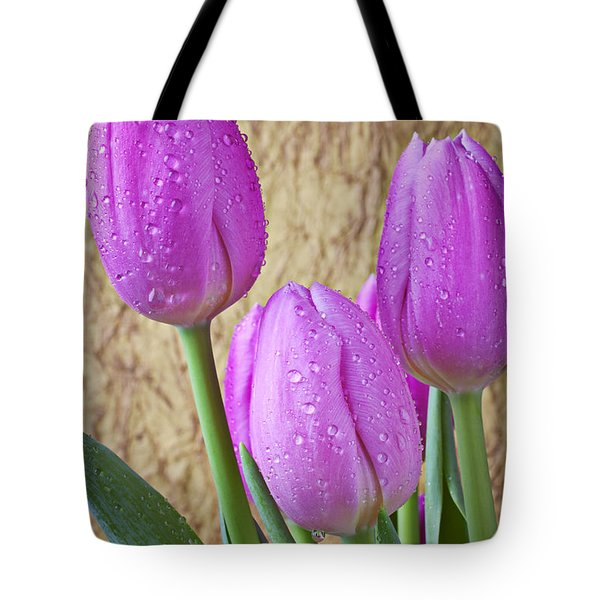 Pink Tulips Tote Bag by Garry Gay