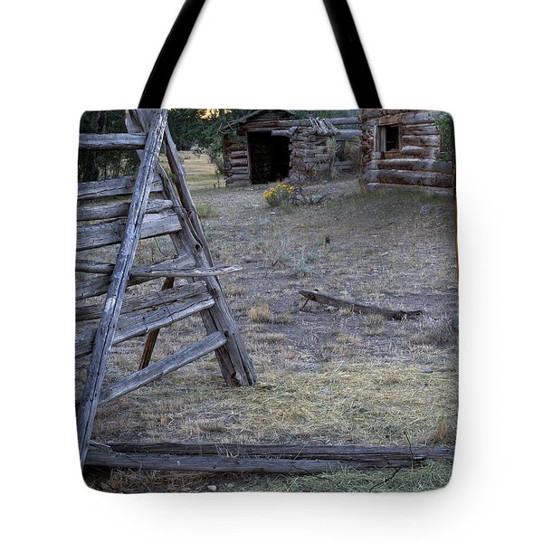 Pioneer Cabins Tote Bag by Leland D Howard