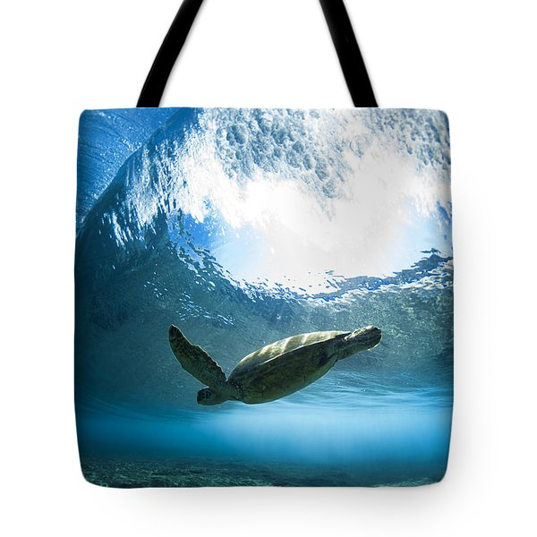 Pipe Turtle Glide Tote Bag by Sean Davey