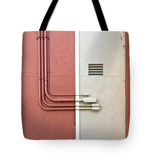 Pipes Tote Bag by Julie Gebhardt