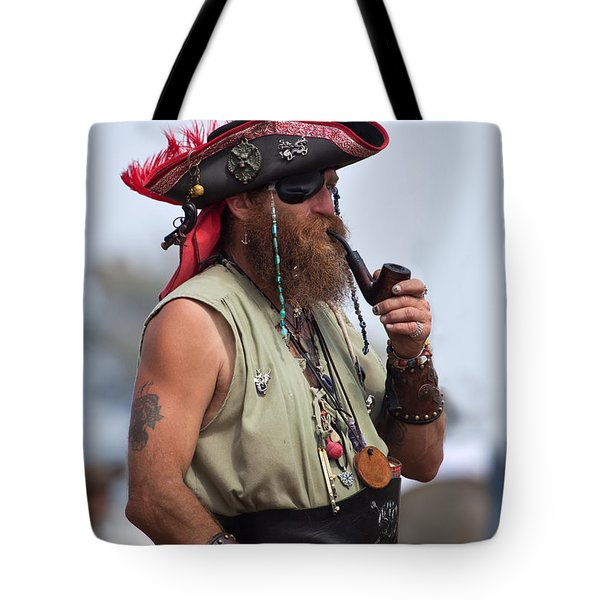 Pirate Peanut Island Florida Tote Bag by Michelle Wiarda