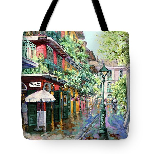 Pirates Alley Tote Bag by Dianne Parks