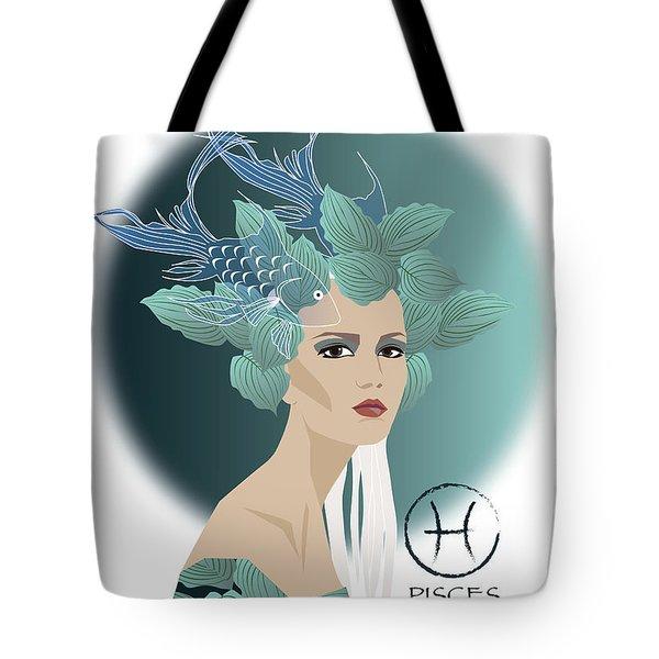 Pisces Tote Bag by Johanna Virtanen