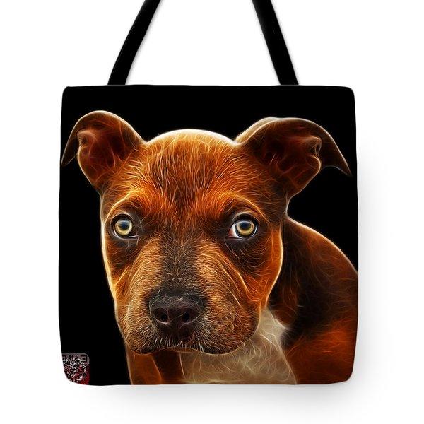 Pitbull Puppy Pop Art - 7085 Bb Tote Bag by James Ahn