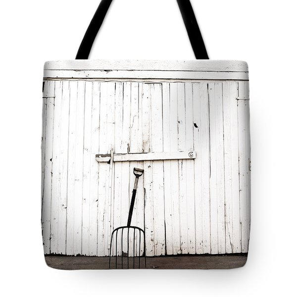 Pitch Fork Tote Bag by Marilyn Hunt