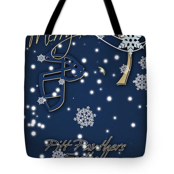 Pitt Panthers Christmas Cards Tote Bag by Joe Hamilton