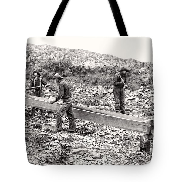 PLACER GOLD MINING c. 1889 Tote Bag by Daniel Hagerman