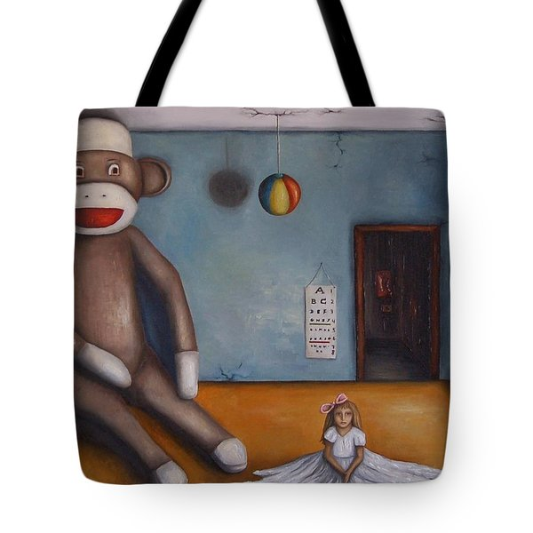 Playroom Nightmare Tote Bag by Leah Saulnier The Painting Maniac