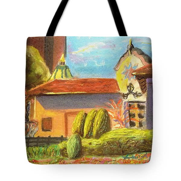 Plaza View From Canal Tote Bag by Darya Tyshlek