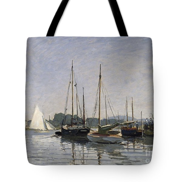 Pleasure Boats Argenteuil Tote Bag by Claude Monet