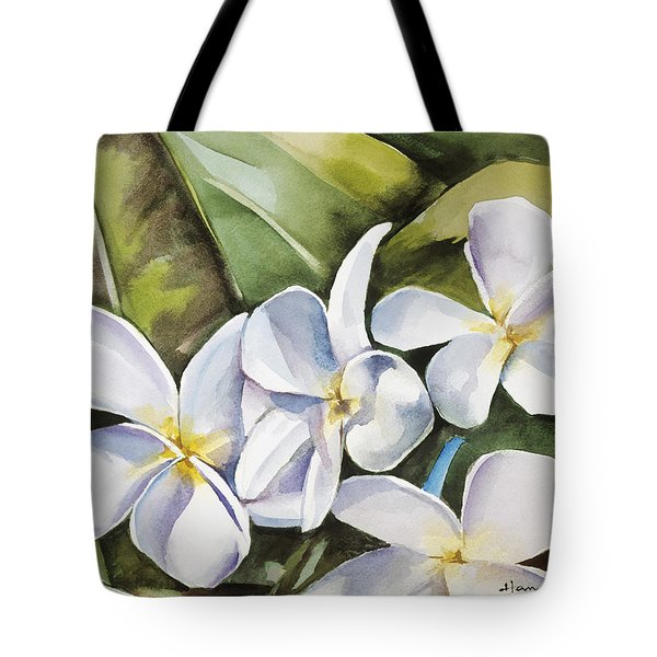 Plumeria II Tote Bag by Han Choi - Printscapes