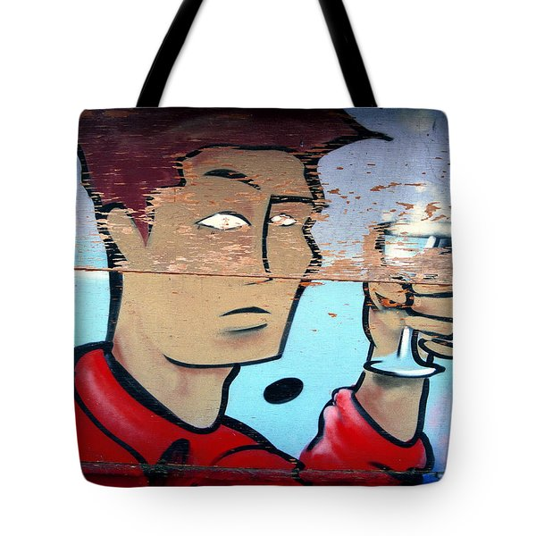 Plywood Boy Tote Bag by Andrew Fare