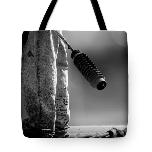 Poetry Pants and Flamethrower  Tote Bag by Bob Orsillo
