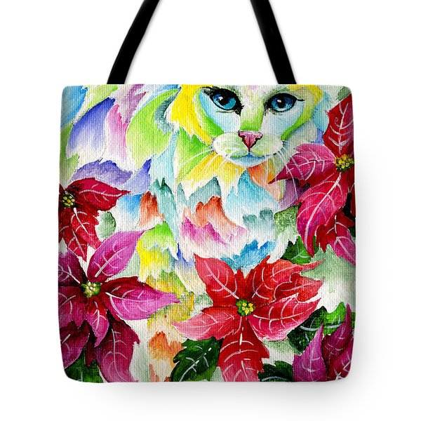 Poinsettia Sweetheart Tote Bag by Sherry Shipley