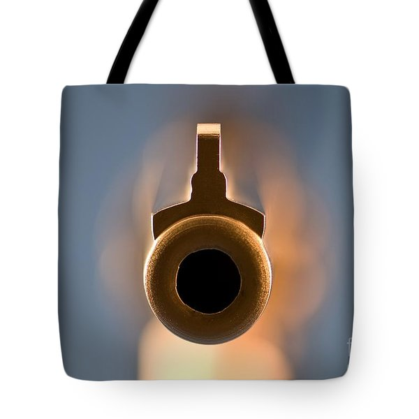 Point Blank Tote Bag by Charles Dobbs