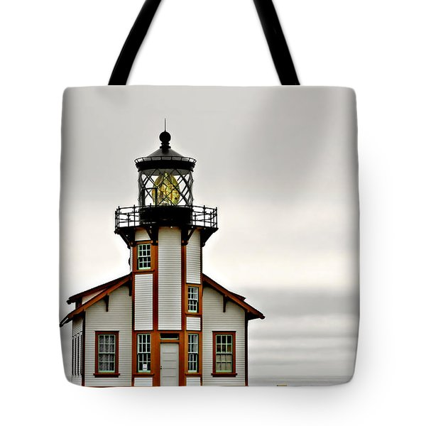Point Cabrillo Lighthouse California Tote Bag by Christine Till
