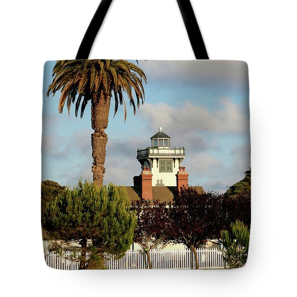 Point Fermin Light - San Pedro - Southern California Tote Bag by Christine Till