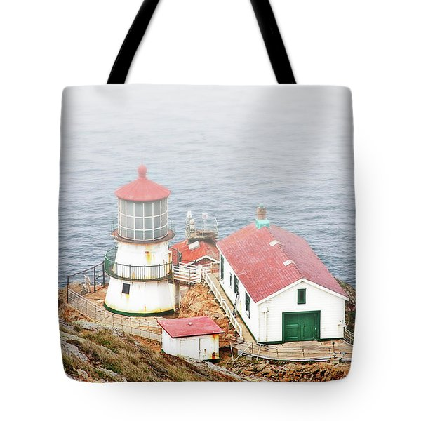 Point Reyes Lighthouse at Point Reyes National Seashore CA Tote Bag by Christine Till