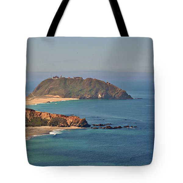 Point Sur Lighthouse On Central California's Coast - Big Sur California Tote Bag by Christine Till
