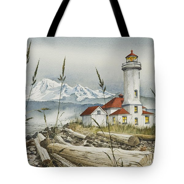 Point Wilson Lighthouse Tote Bag by James Williamson