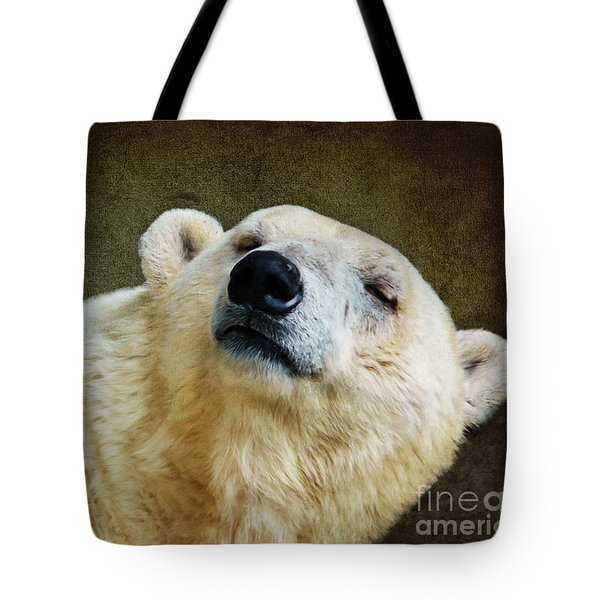 Polar Bear Tote Bag by Angela Doelling AD DESIGN Photo and PhotoArt