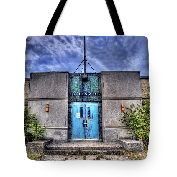 Police Station Tote Bag by Tammy Wetzel