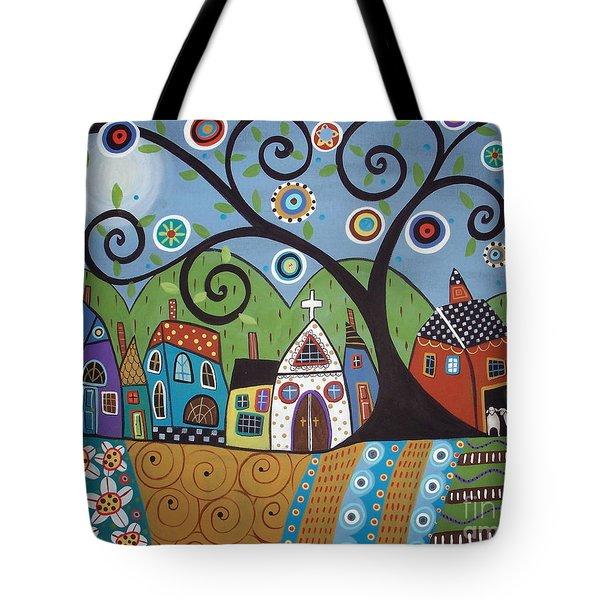 Polkadot Church Tote Bag by Karla Gerard