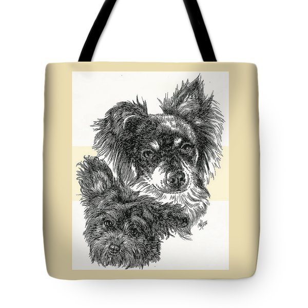 Pomapoo Father And Son Tote Bag by Barbara Keith