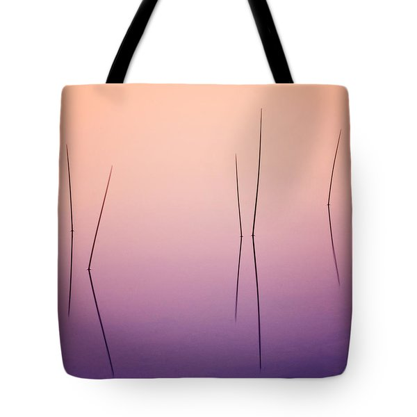 Pond Reeds - Abstract Tote Bag by Thomas Schoeller