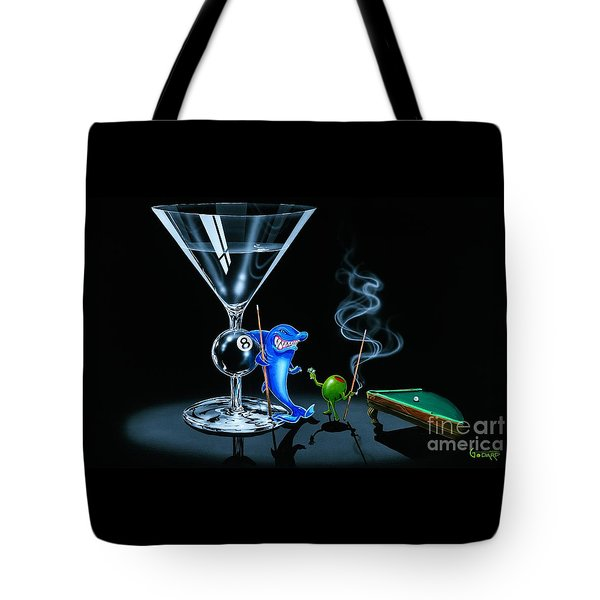 Pool Shark Tote Bag by Michael Godard