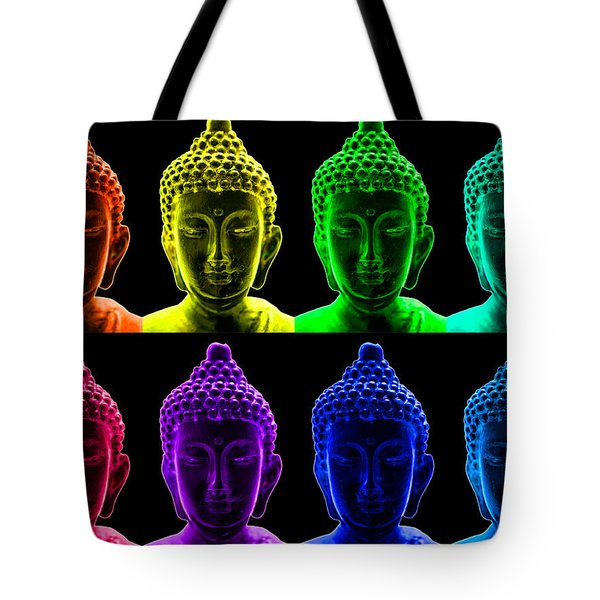 Pop art buddha  Tote Bag by Fabrizio Troiani
