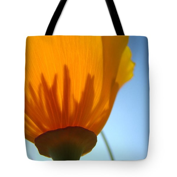 Poppies Sunlit Poppy Flower 1 Wildflower Art Prints Tote Bag by Baslee Troutman