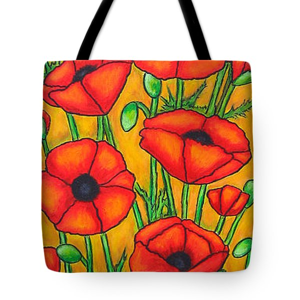 Poppies Under The Tuscan Sun Tote Bag by Lisa  Lorenz