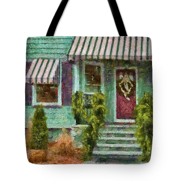 Porch - Westfield Nj - Welcome Friends Tote Bag by Mike Savad