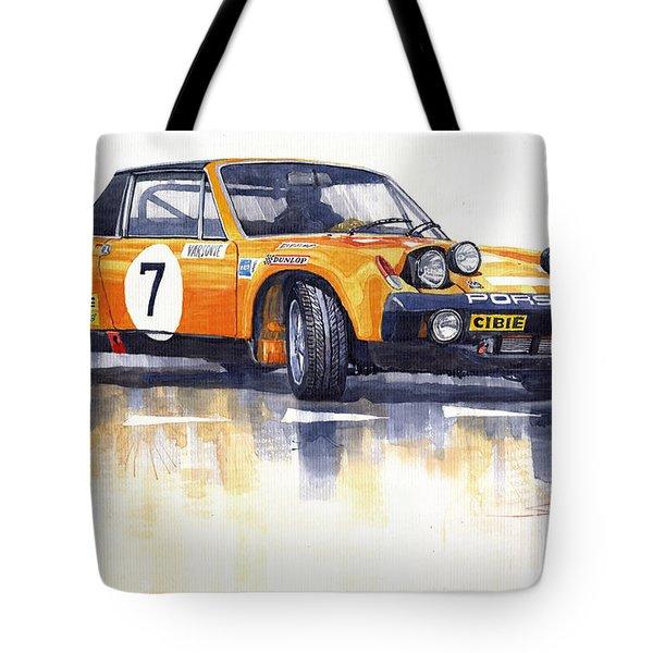 Porsche 914-6 Gt Rally Tote Bag by Yuriy  Shevchuk