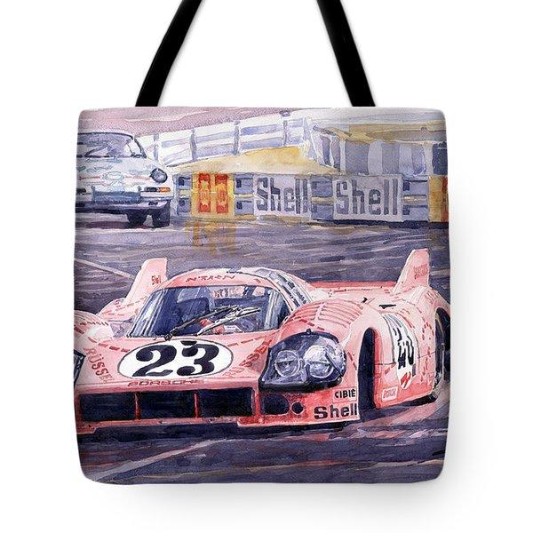 Porsche 917-20 Pink Pig Le Mans 1971 Joest Reinhold Tote Bag by Yuriy  Shevchuk